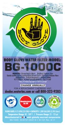BG-1000 label